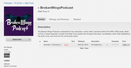 Broken Wings on iTunes